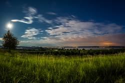 Bodensee im Mondlicht