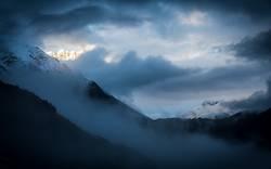 Glühende Gipfel