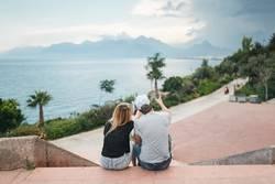 couple on the promenade