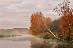 Oktobermorgen auf dem Fluss