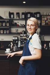 smiling Barista at the coffee shop