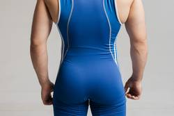 elastic ass athlete wrestler in tights