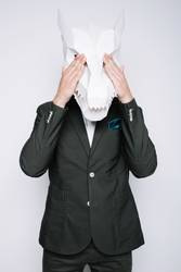 office worker in mask of the dragon