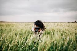 Girl Photographing Fields