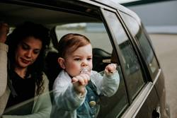 Mother and Daughter in vehicle