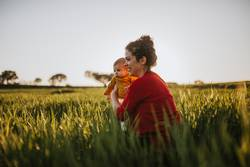 Mother and Baby in Nature