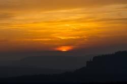 Sonnenuntergang überm Pfaffenstein