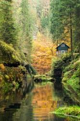 Edmundsklamm im Herbst