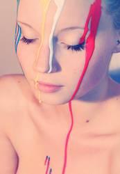Fließende Farbe