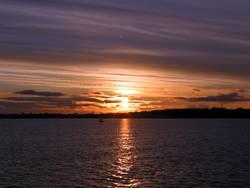 Kieler Förde Sonnenuntergang