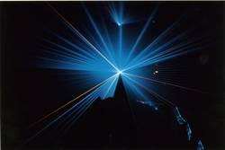 Laser blau
