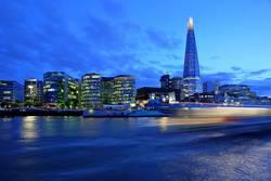 London in blau