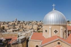 Rooftops of Jerusalem's Old City, with Our Lady of Sorrows
