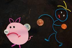 Gummiwürmer: Sparschwein