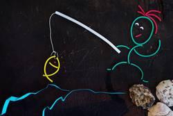 Gummiwürmer: Angler