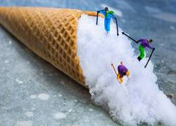 Miniwelten - Abfahrt - Ski