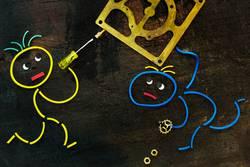Gummiwürmer: ...jetzt halt schon fest