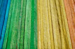 colorful wooden sticks decoration abstract background