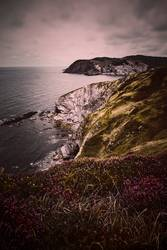 cliff and sea in the coast in the nature