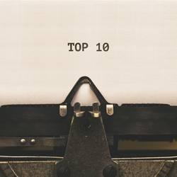 Top 10 in Schreibmaschine geschrieben