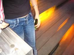 Bier bei Nacht