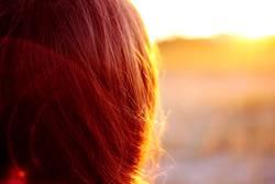 haariger Sonnenuntergang