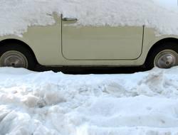 Fiat im Schnee