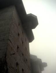 Bunker im Nebel