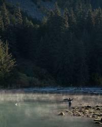 Fischfang im Morgengrauen