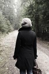 Graukäppchen im Wald