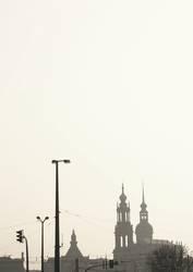 Dresden dunstig