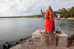 Statue von indischer Gottheit Kali in Mauritius