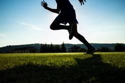 Läufertraining auf einem Stadion