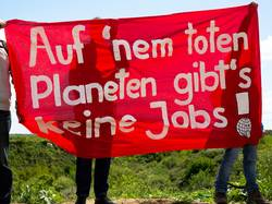 Protest gegen Braunkohle und andere Klimakiller