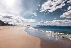 Sandstrand auf den Vesterålen