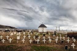Kleiner Friedhof an der Barentssee