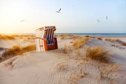Strandkorb in den Dünen