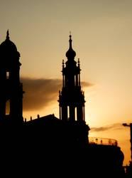 Dresden Sonnenuntergang