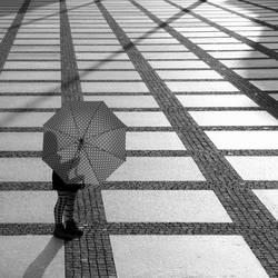 mit Schirm ...