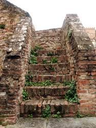 Steintreppe in Sienna (Italien)