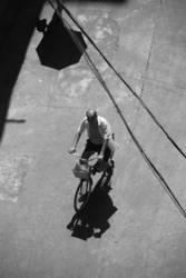 old man on bike
