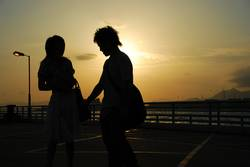 Lovers' silhouette