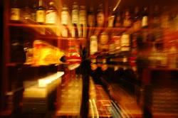 Schräger Alkohol