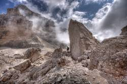 Tofana De Rozes - the great mountain