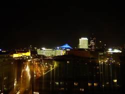 Über Berlin bei Nacht