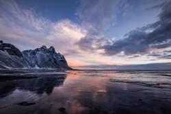 West Coast iceland during Sunrise in Winter