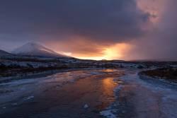 Winter sunrise in Iceland