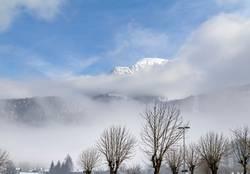 cloudy alpine scenery
