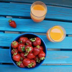 Erdbeerfrühstück