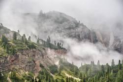 Nebel in den Dolomiten